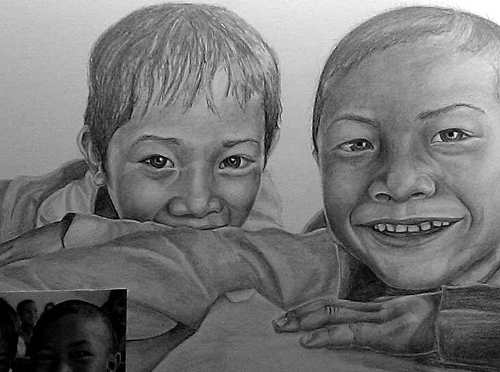 Best Friends - Via Vitae Portrait and Illustration Studios