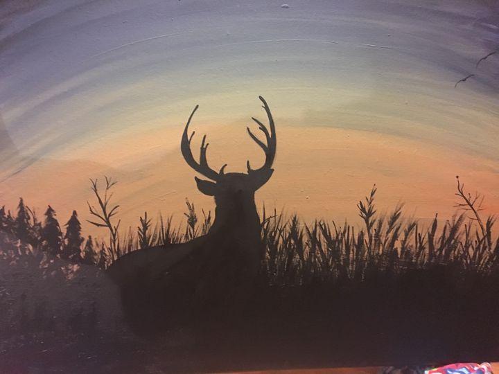 Sunset deer - Lauren Landry
