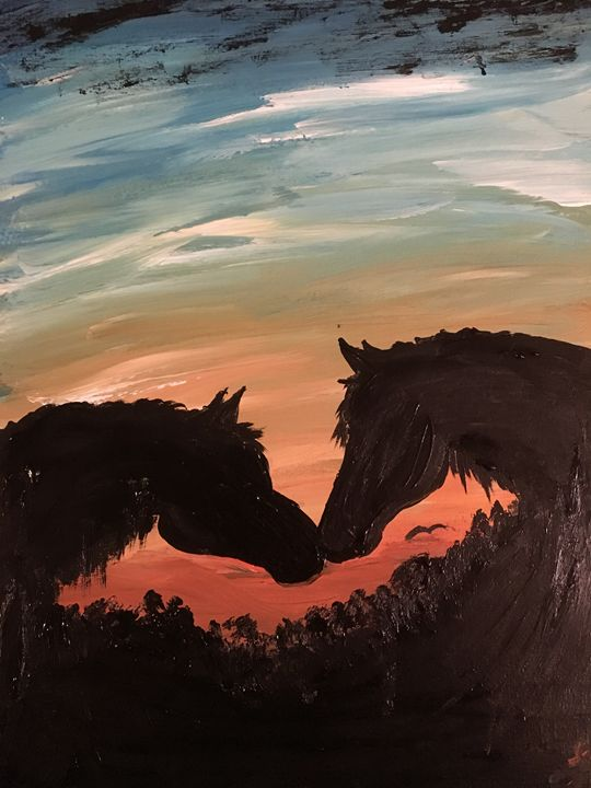 Sunset horses - Lauren Landry