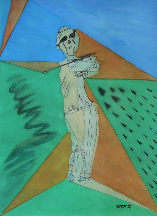 The golfer - セファス Artworks