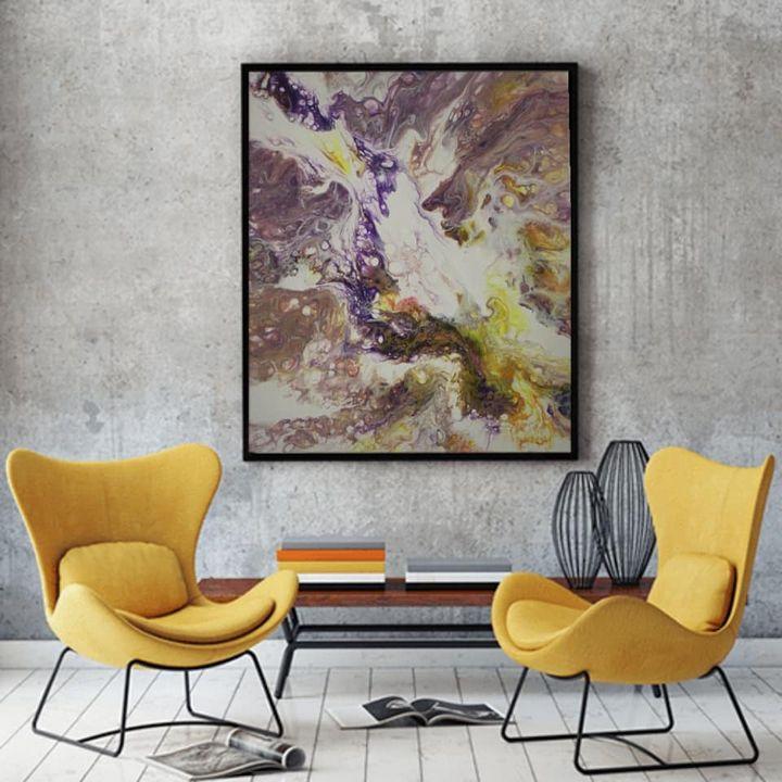 Fluid Art on canvas - Erret_art