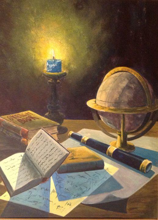 Candle light study - David Wayne's Gallery