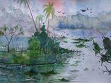 Landscape,watercolor on paper