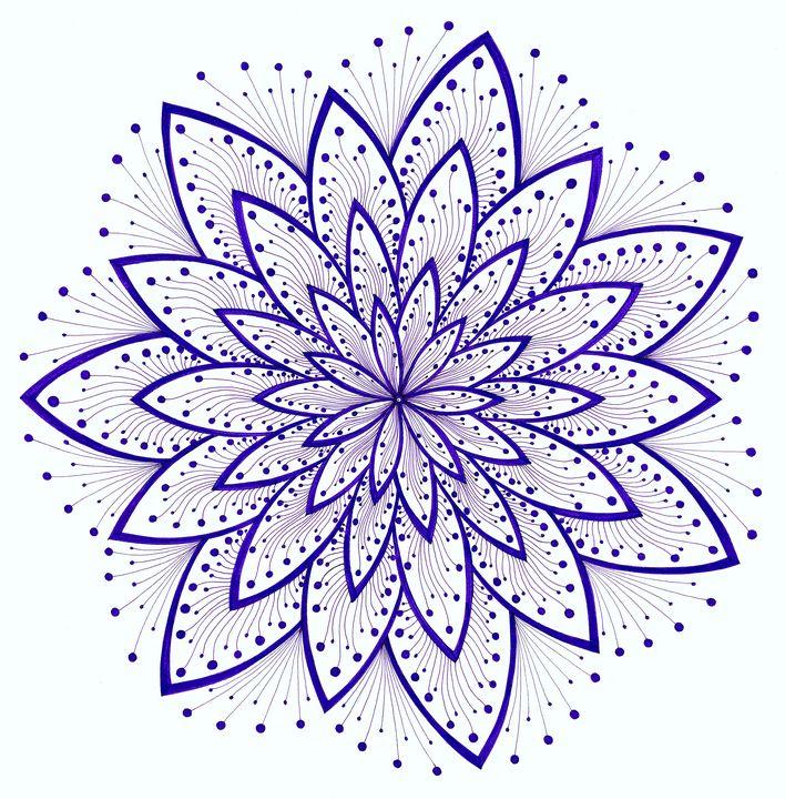 Crown chakra mandala (Sahasrara) - Elena Soltuz