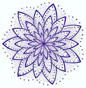 Crown chakra mandala (Sahasrara)