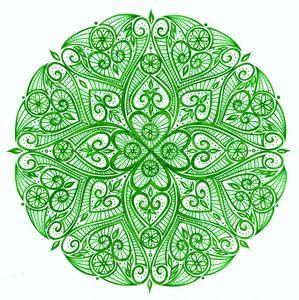 Heart chakra mandala (Anahata)