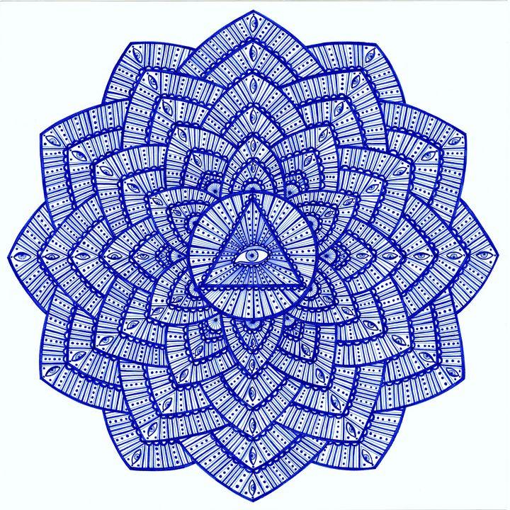 Third eye chakra mandala (Ajna) - Elena Soltuz