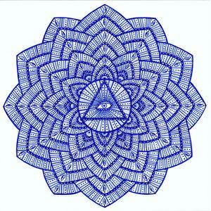 Third eye chakra mandala (Ajna)