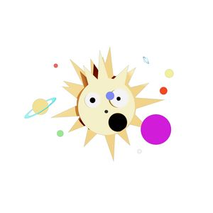 Amazed Sun with Planets