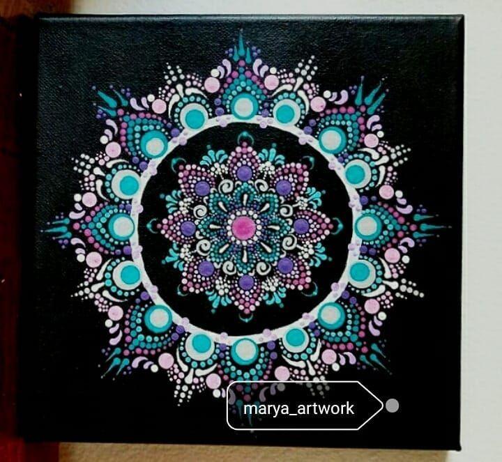 Colorful Shamsa design - Marya Art Works
