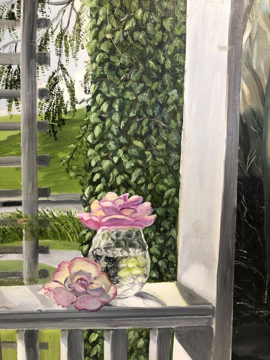Study on the Porch - Clarice Moore