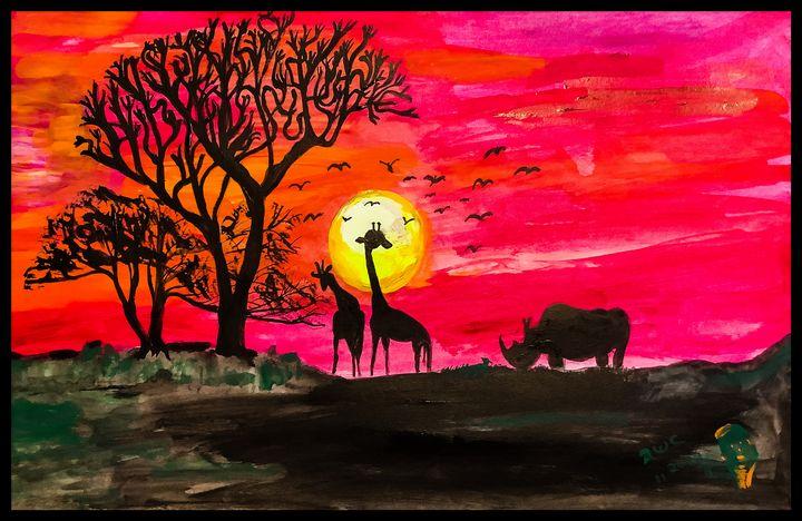 African Sunset - Roberts Art