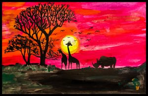 African Sunset - Roberts Art