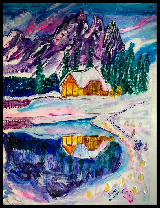 Home by the Lake - Roberts Art