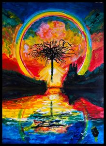 Rainbow Tree - Roberts Art