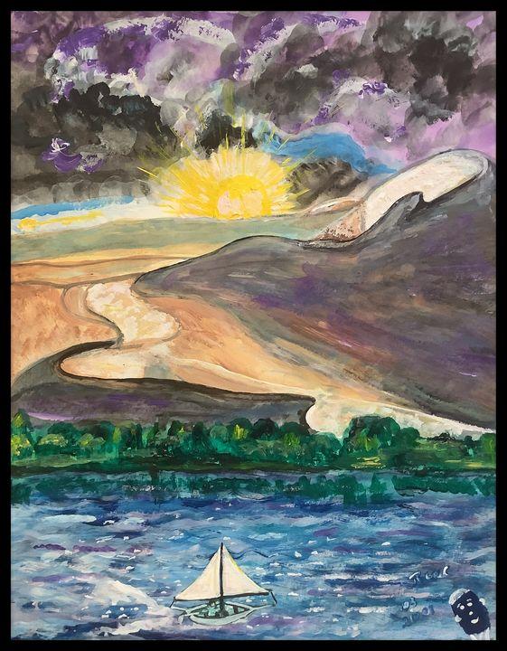 Sky Desert Sea - Roberts Art