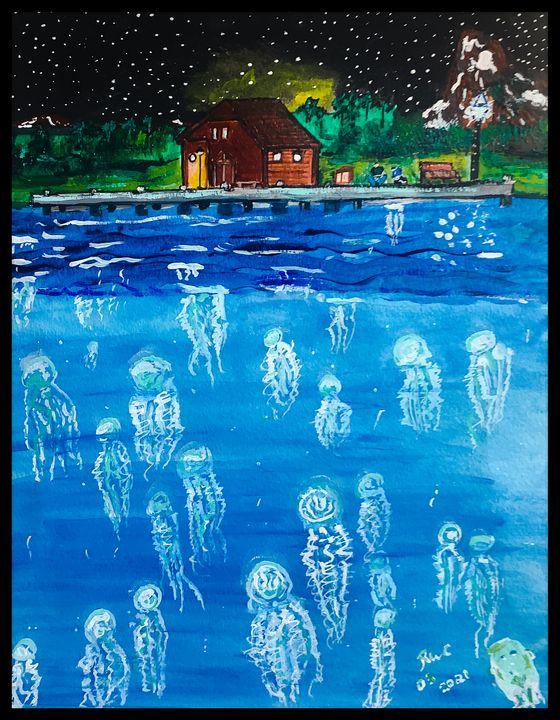 Lighting up the Sea - Roberts Art