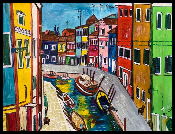 Colourful Town - Roberts Art