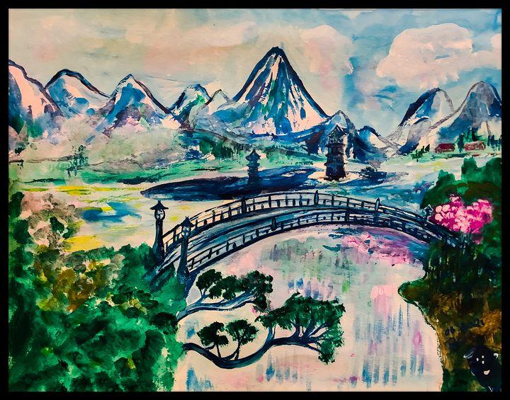 Crossing over the Bridge - Roberts Art