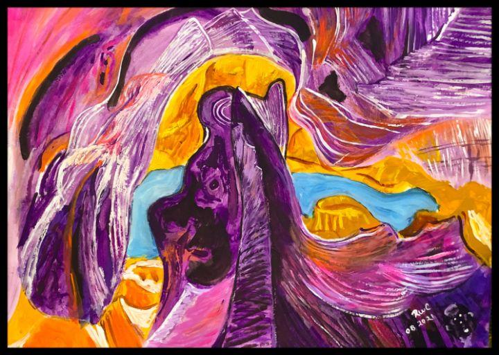 Mountain cave - Roberts Art