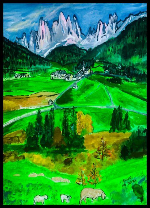 Beautiful mountain valley - Roberts Art