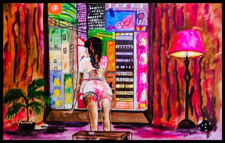 Enjoying the View - Roberts Art