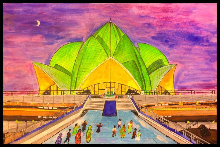 Lotus Temple - Roberts Art
