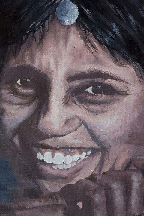 Smiling Indian Girl - Creative Katie