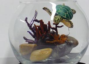 Sea Turtle in a Goldfish Bowl - Ostara Scarlett Designs