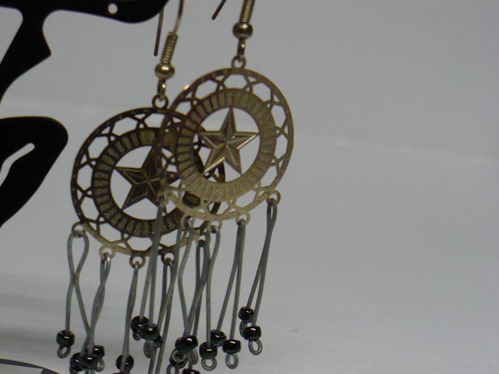 Earrings Star in the Circle - Ostara Scarlett Designs