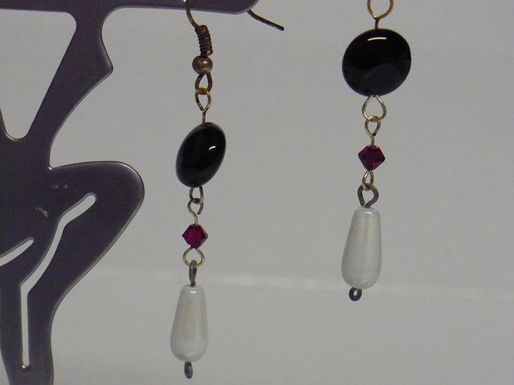 Black and White Statement earrings - Ostara Scarlett Designs