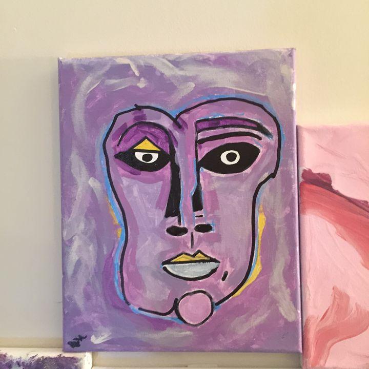 Purple Faced Woman - Contemporary Correnti