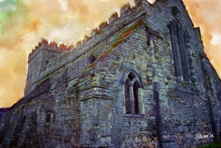 Abandoned Stone Church - Pavelle Fine Art