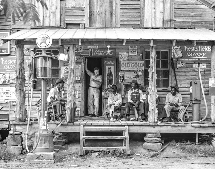 Country Store on Sunday - Wall Art