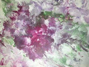 Explosive floral paint pour