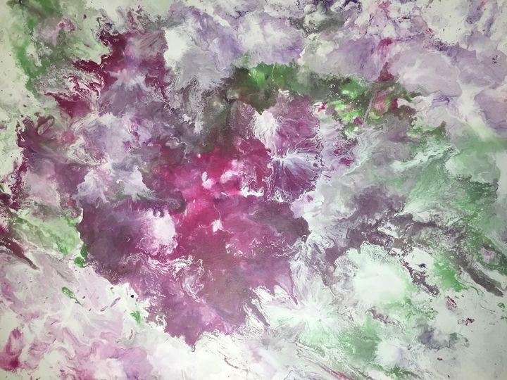 Explosive floral paint pour - AmandaDepablos