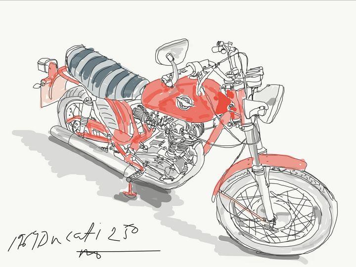 1969 Ducati 250 - Markartistic
