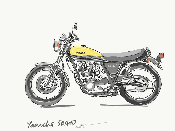 Yamaha sr400 - Markartistic