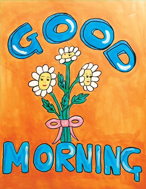 Good Morning Ronimakes Paintings Prints Flowers Plants Trees Flowers Flowers A H Daisy Dianathus Artpal