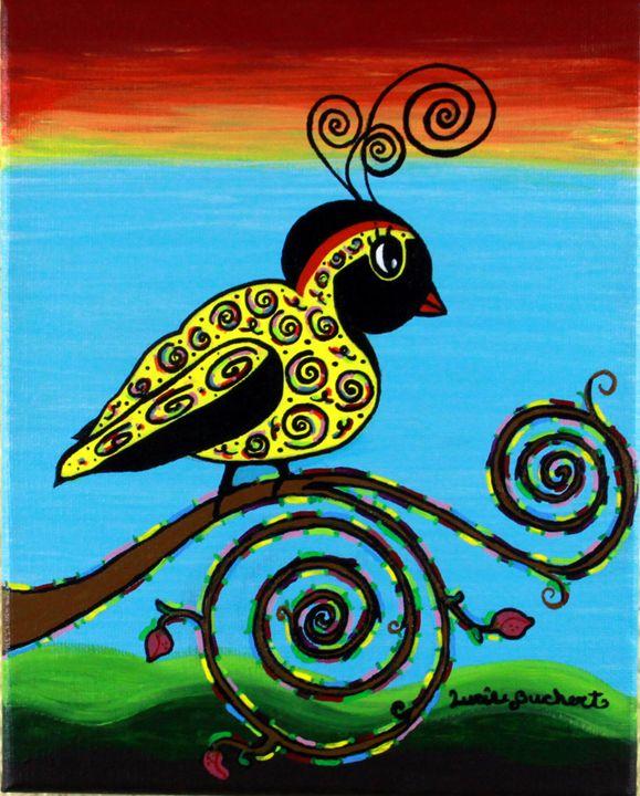 Curly Bird - BitsOWhimsy