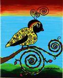 Original Acrylic Painting of Bird