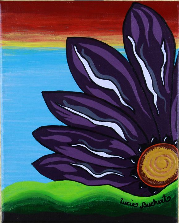 Purple Flower - BitsOWhimsy