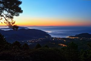 dawn in Elba island