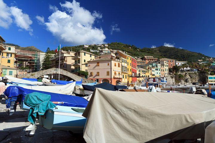 boats in Bogliasco, Italy - Antonio-S