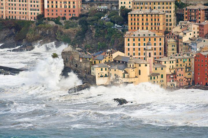 Sea storm in Camogli, Italy - Antonio-S