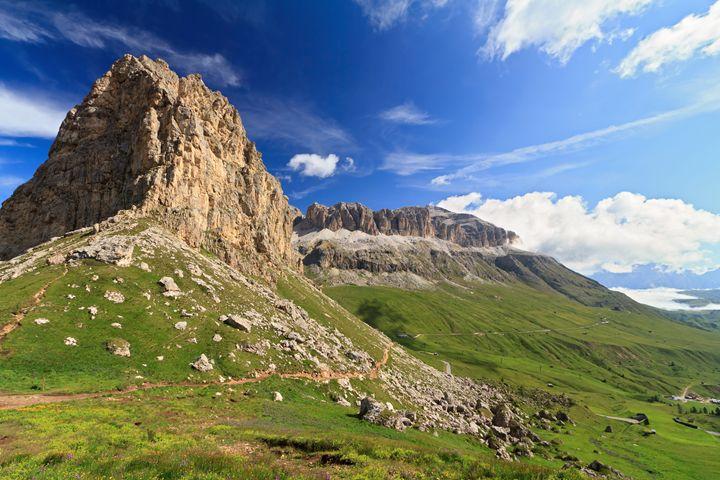 Sella mountain and Pordoi pass - Antonio-S