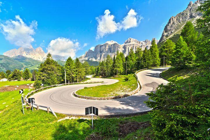 road to Pordoi pass - Antonio-S