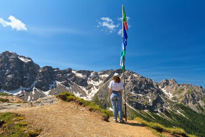 Dolomiti - woman on panoramic point - Antonio-S