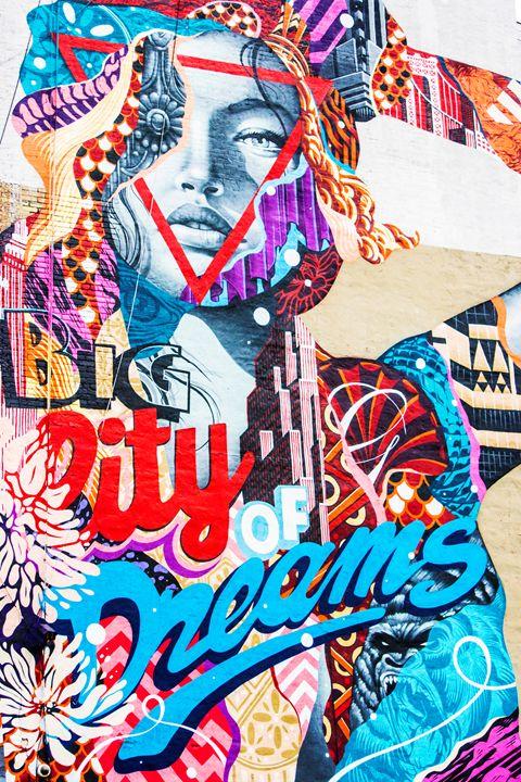 Big City Dreams-Tristan Eaton Mural - Amber Mohr