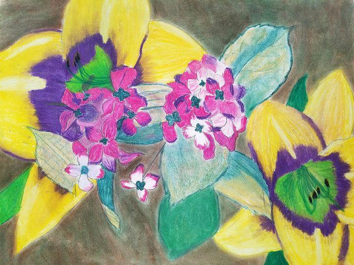 Floating Flowers - Jennifer Vitvitsky-Quagliano